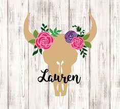 jeep decal with bow glitter floral cow skull decal glitter cow skull decal