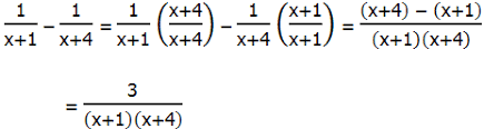 algebraic fractions on the gmat