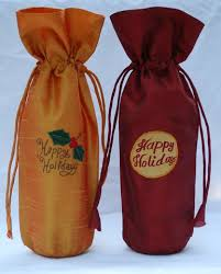happy holidays wine bottle cover from to world indian