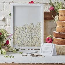 wedding wishes book top wooden frame guest book by favour