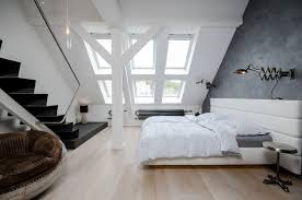 attic loft a renovated attic apartment in prague design milk