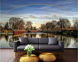 wall ideas vinyl wall decals nature forest stream wall mural removable wall decals nature 3d wall murals wallpaper for living room walls 3 d photo wallpaper rainbow over the lake painted wall murals nature nature wall
