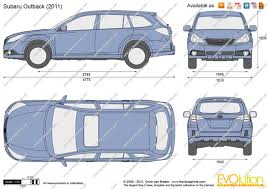 outback subaru 2011 the blueprints com vector drawing subaru outback