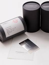 founderscard membership card packaging mailing labels package