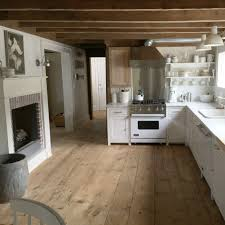 Floor Ideas For Kitchen by Love This Kitchen The Beams Wood Floors White Cabinets