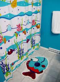 Nemo Bathroom Kids Bathroom Shower Curtain Cartoon Theme Decor Crave