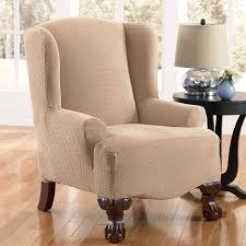 Wing Back Chair Slip Covers Furniture Delightful Shine Wingback Recliner Slipcover With