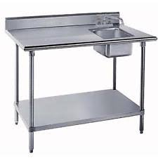 Stainless Steel Table Sink EBay - Stainless steel kitchen tables