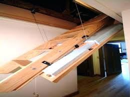 how to install an attic ladder installing a attic ladder pull down