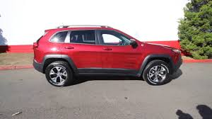 dark red jeep 2017 jeep cherokee trailhawk 4x4 deep cherry red crystal