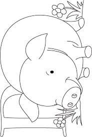 pig coloring kids download free pig
