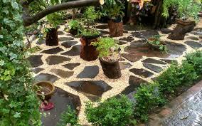 garden decor with stones u2013 home design and decorating