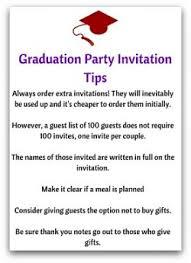 graduation invite invitation etiquette