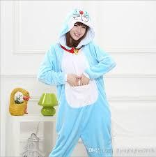 flannel pajamas cosplay cartoon doraemon animal winter