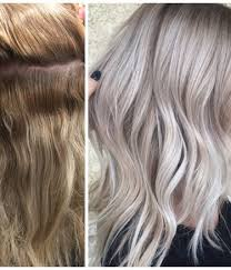 silver blonde color hair toner color correction spotty blonde to lovely violet ash hair color