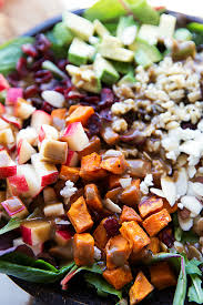 the best hearty and healthy thanksgiving salad mixed greens with