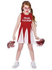 Dead Cheerleader Halloween Costume Kids Zombie Cheerleader Halloween Fancy Dress Costume 5 6