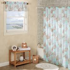seashell shower curtain bathroom set 56 trendy interior or coral
