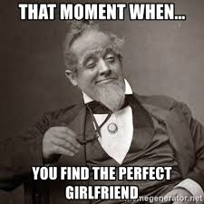Perfect Girlfriend Meme - that moment when you find the perfect girlfriend 1889 10 guy