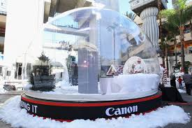canon let it snow globe event on december 13 and