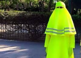 Burka Meme - false crossing guard burqa