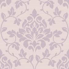 Purple Damask Wallpaper by Grandeco Elite Floral Damask Pattern Glitter Motif Wallpaper A13903
