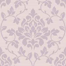 Purple Damask Wallpaper by Grandeco Elite Floral Damask Pattern Glitter Motif Wallpaper A13903
