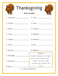 thanksgiving word jumble png