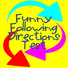 following directions test fun activity for beginning of the year