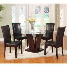 Espresso Dining Room Sets Dining Room Dining Room Sets Camelia 1210 5 Pc Round Dining Set