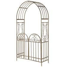 brown garden fencing fencing the home depot garden accents gated archway