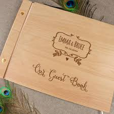 large wedding guest book alternative personalised wedding guest book wood guest book