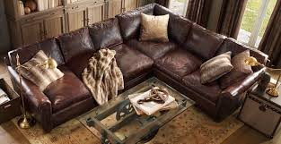 Small Brown Leather Corner Sofa Distressed Brown Leather Corner Sofa 10220