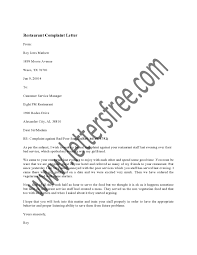 ideas of sample complaint letter to restaurant about poor service