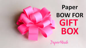 gift boxes with bow how to make bow flower for gift box origami diy craft
