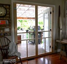 Exterior Single French Door by How To Screen French Doors For Only 35 Each Funky Junk