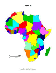 africa map color africa map for