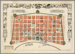 Bourbon Street New Orleans Map by Le Vieux Carre De La Nouvelle Orleans New Orleans Over A Span Of