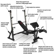 Olympic Bench Set With Weights Marcy Diamond Elite Olympic Bench With Squat Rack