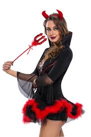 halloween costume accessories wholesale miss iblis devil costume wholesale halloween costumes set