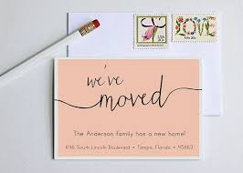 best 25 change of address cards ideas on we ve moved