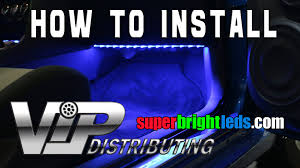 installing led lights in car how to install led footwell lights with rgb led strips youtube