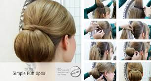 hair puff simple puff updo now focus