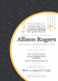 michelle ayres baby shower invitation twinkle twinkle