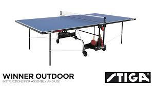stiga eurotek table tennis table winner outdoor assembly instructions youtube
