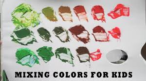color mixing for kids asmr red u0026 green complementary colour
