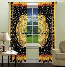 boho decorative door curtains window 2 panel drapes tapestry wall