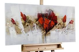 bilder xxl bild abstrakte mohnblumen in rot kaufen kunstloft
