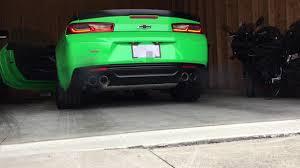 green camaro ss 2017 krypton green camaro ss 1le cold start