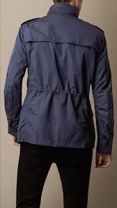burberry showerproof field jacket in blue for men lyst